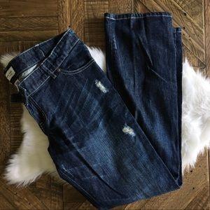 LIZ LANGE Maternity Distressed Jeans